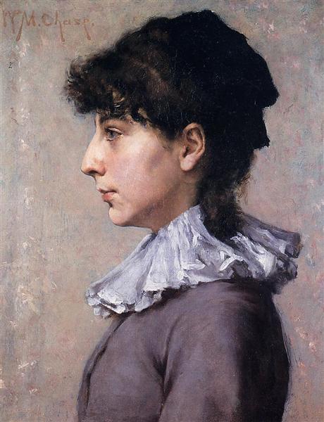 Portrait of Virginia Gerson, c.1880 - William Merritt Chase
