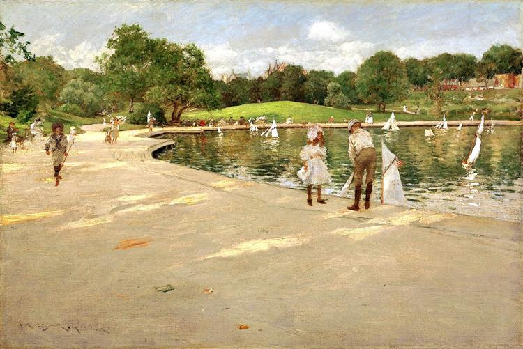 The Lake for Miniature Yachts, 1888 - William Merritt Chase