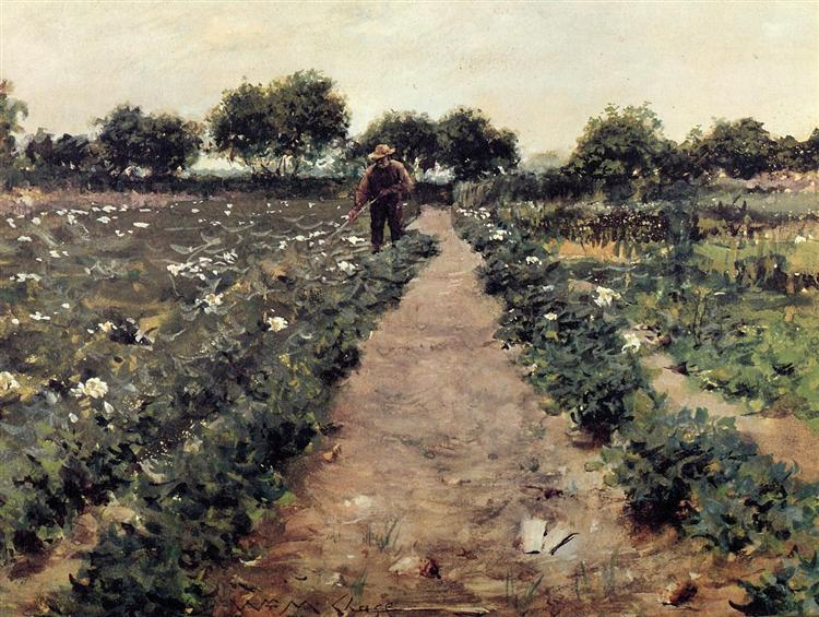 The Potato Patch, aka Garden Shinnecock, c.1893 - William Merritt Chase