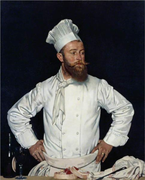 Le Chef de l'Hotel Chatham, Paris - William Orpen