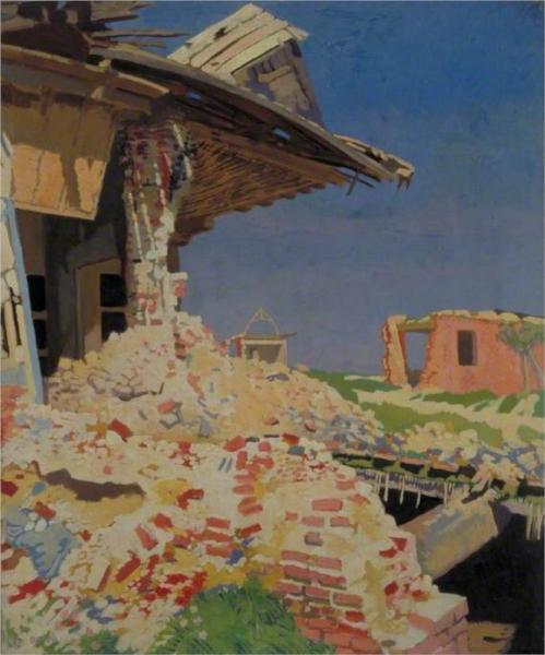 The Main Street, Combles, 1917 - William Orpen