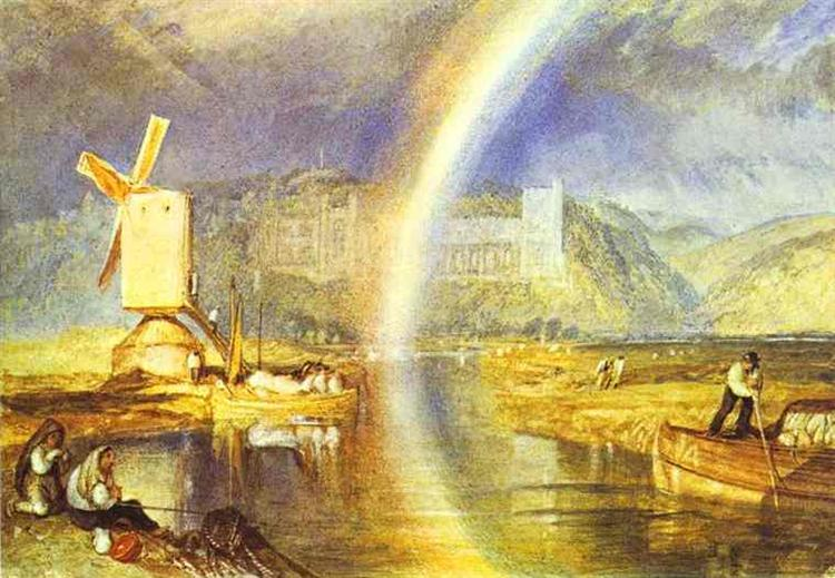 Arundel Castle, with Rainbow, 1824 - J.M.W. Turner