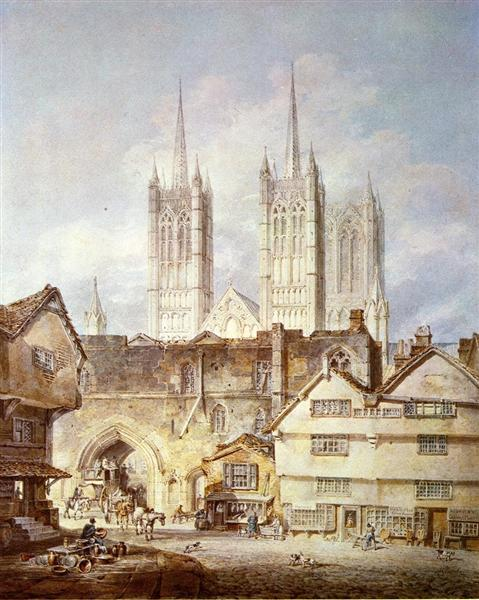 Cathedral Church at Lincoln, 1795 - J.M.W. Turner
