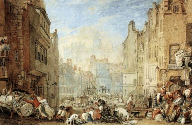 Heriot's Hospital, Edinburgh, c.1819 - J.M.W. Turner