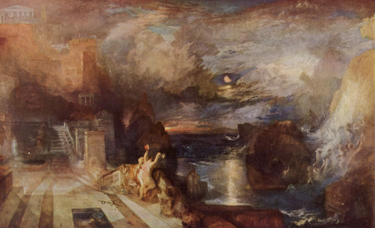 Hero and Leander's farewell, 1837 - J.M.W. Turner