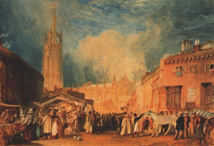 Louth, Lincolnshire, c.1827 - Уильям Тёрнер