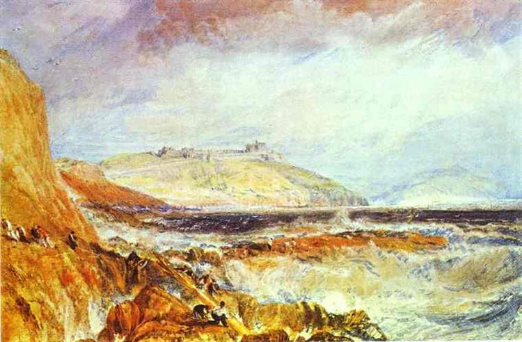 Pendennis Castle, Cornwall Scene after a Wreck, c.1816 - J.M.W. Turner