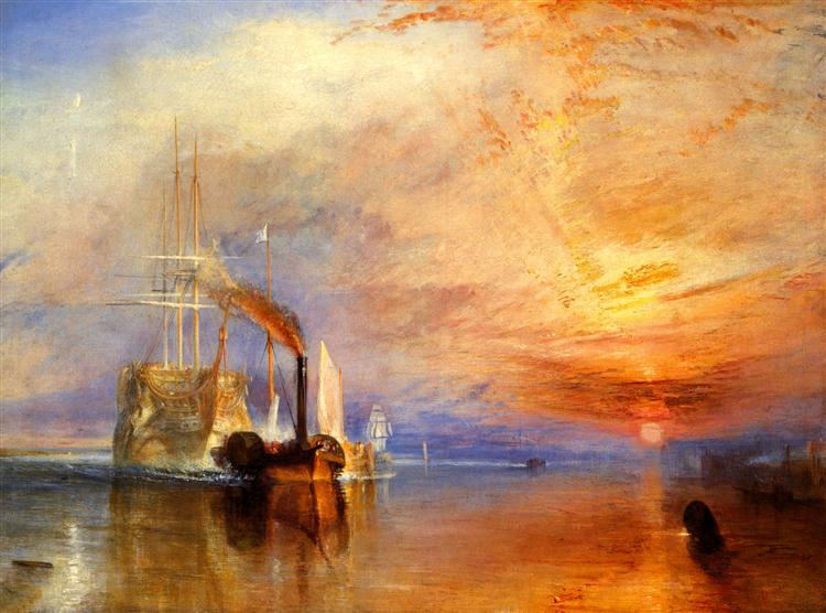 "The ""Fighting Temeraire"" Tugged to her Last Berth to be Broken up, c.1839 - J.M.W. Turner"