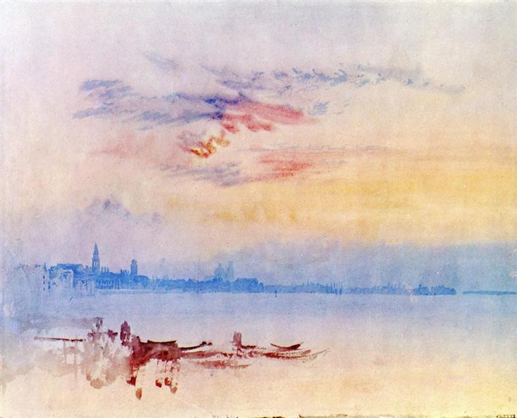 Venice, Looking East from the Guidecca, Sunrise, 1819 - J.M.W. Turner