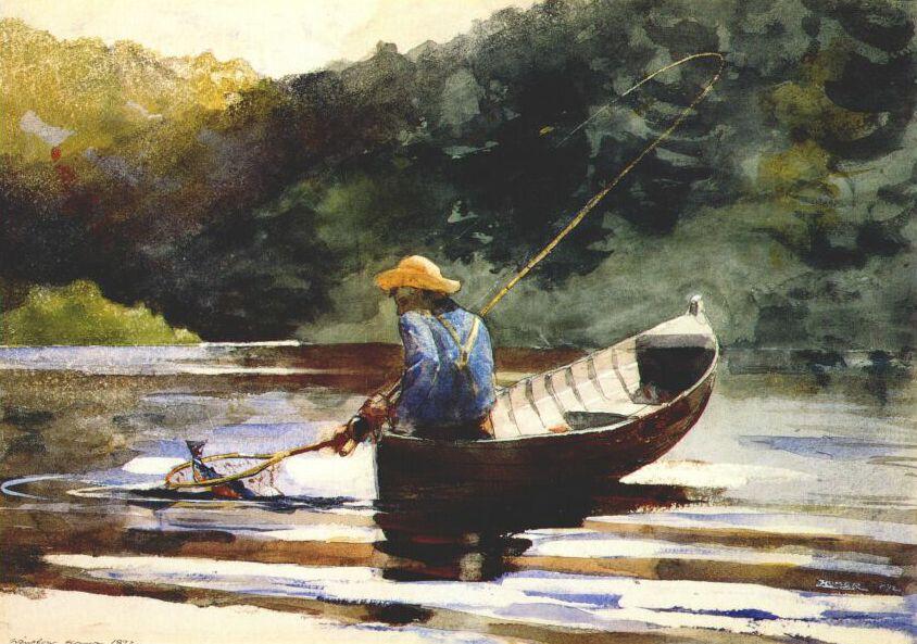 Boy fishing 1892 winslow homer for Public fishing areas near me