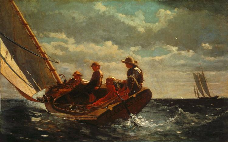 Breezing Up (A Fair Wind), 1873 - 1876 - Winslow Homer