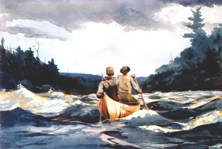 Canoe in the rapids, 1897 - Winslow Homer