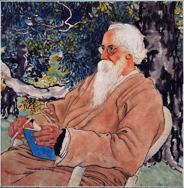 Portrait of Rabindranath Tagore - Xu Beihong