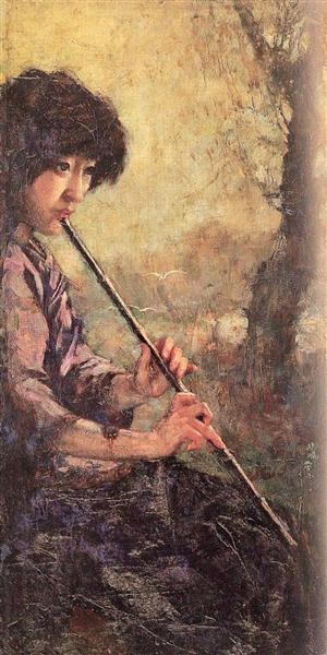 The Sound of the Flute - Xu Beihong