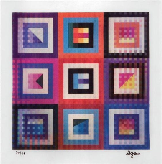 Hidden Rainbow x9, 2002 - Yaacov Agam