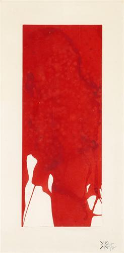 MonochromeRedUntitled - Yves Klein