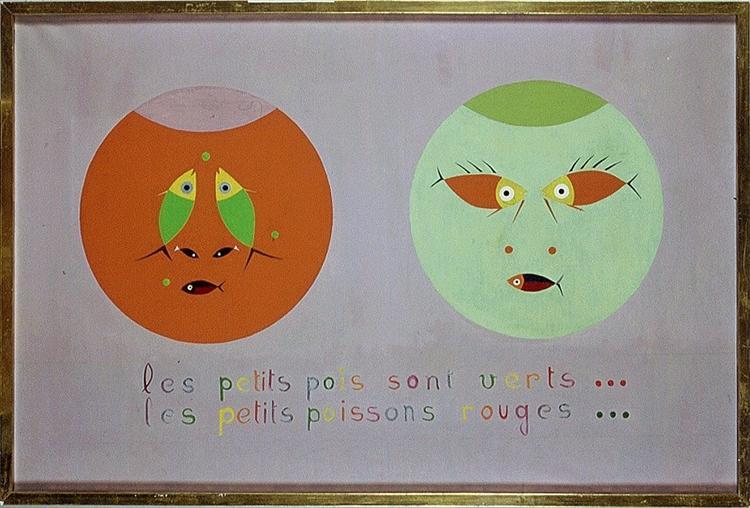 Les petits poissons rouges... les petits pois sont verts..., 1960 - Yves Laloy