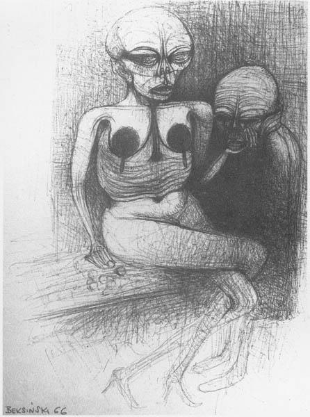 Untitled, 1966 - Zdzisław Beksiński