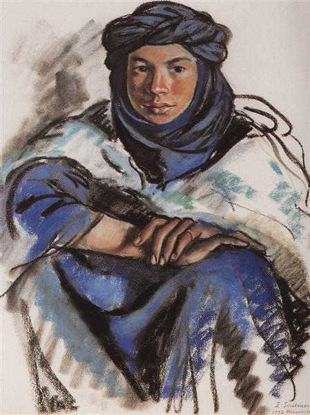 Moroccan in blue, 1932 - Zinaida Serebriakova