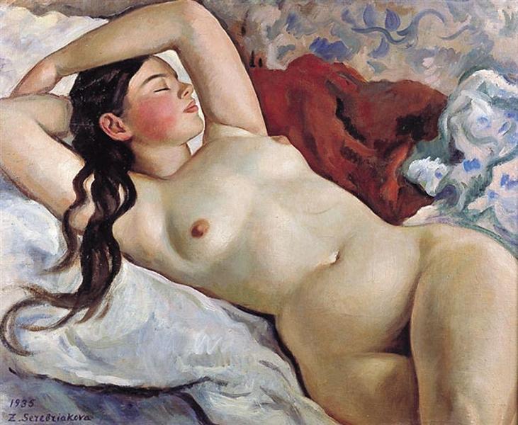 Reclining Nude, 1935 - Zinaida Serebriakova