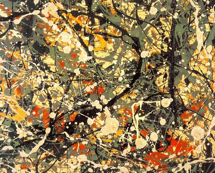 Number 8,  (detail), 1949 - Jackson Pollock