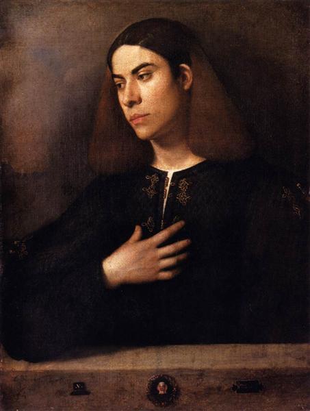 Portrait of a Youth (Antonio Broccardo), 1500 - Giorgione