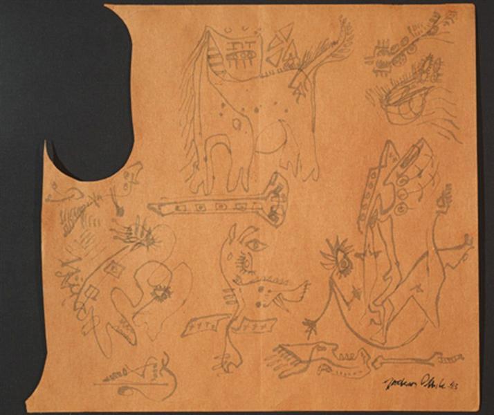 Untitled, 1943 - Jackson Pollock